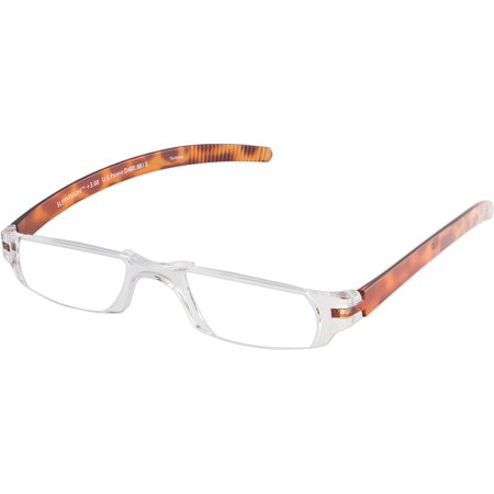 Slim Vision Rimless Reading Glasses with Temples (+1.75), Tortoise, 100% Polycarbonate Construction By Fisherman Eyewear - 100 Glasses