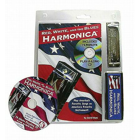 Red White and the Blues Harmonica (Hurricane Harps Hot House Blues Harmonica Set)