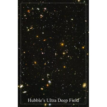 Hubble'S Ultra Deep Field Space Image Poster 24X36 Galaxies Stars Supernova ()