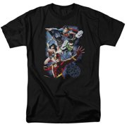 Jla - Galactic Attack Color - Short Sleeve Shirt - Medium