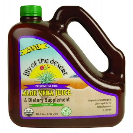 Lily Of The Desert Preservative Free Aloe Vera Juice Whole Leaf Dietary Supplement  128 0 Fl Oz