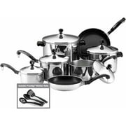 Farberware 15-Piece Cookware Set, Stainless Steel