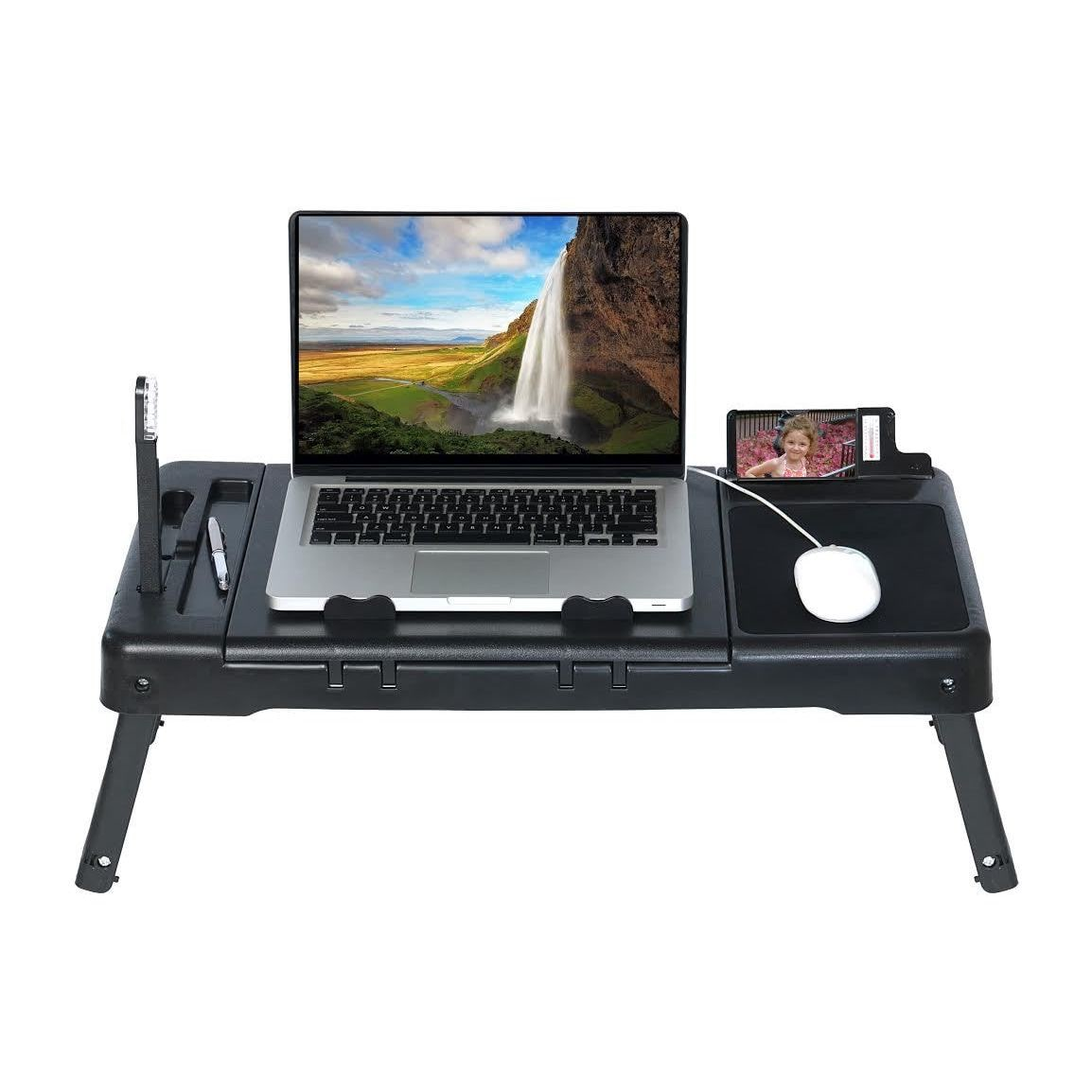 DG Sports Laptop Table Stand with Repositionable LED Light