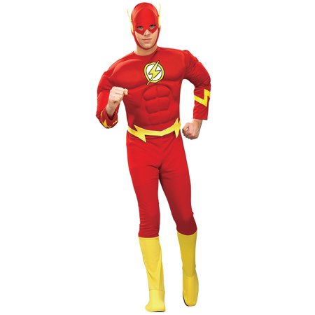 Flash Deluxe Muscle Chest Adult Halloween Costume