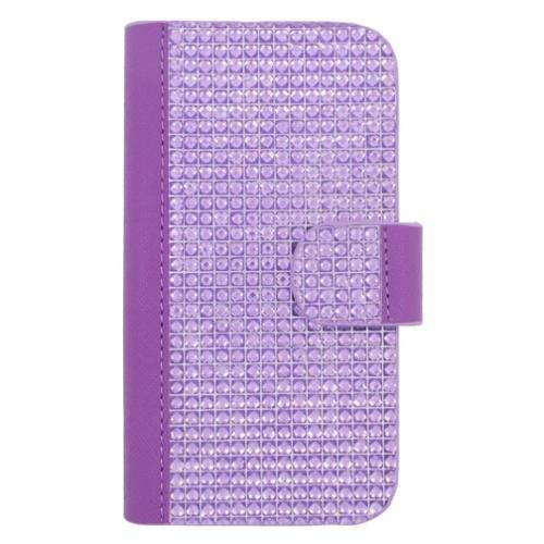 Insten Folio Leather Case For BlackBerry Z10,HTC Desire 520,LG Leon/Tribute 2,Nokia Lumia 1020/630/635/928,Galaxy Avant/Core Prime/J1/S2/S4 Mini/S5 Mini,ZTE Fanfare/Maven/Obsidian/Overture 2 - Purple
