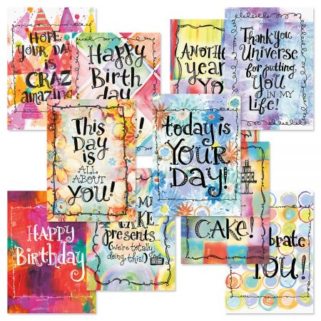 Crazy Amazing Birthday Greeting Cards Value Pack - Set of 20 (10 designs), Large 5