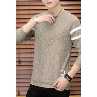 Men Solid Color Long Sleeve Fashion Sweatshirt