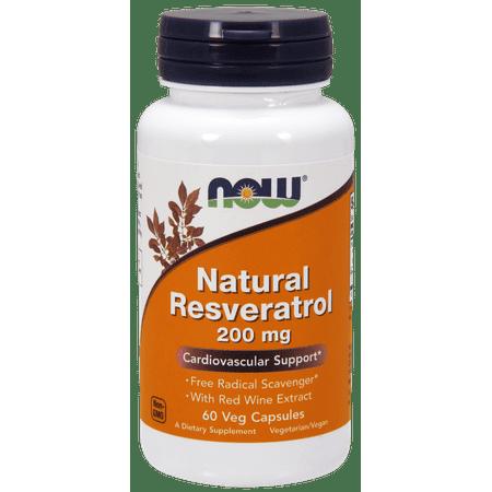 (NOW Vegetarian Natural Resveratrol, 60 Ct)