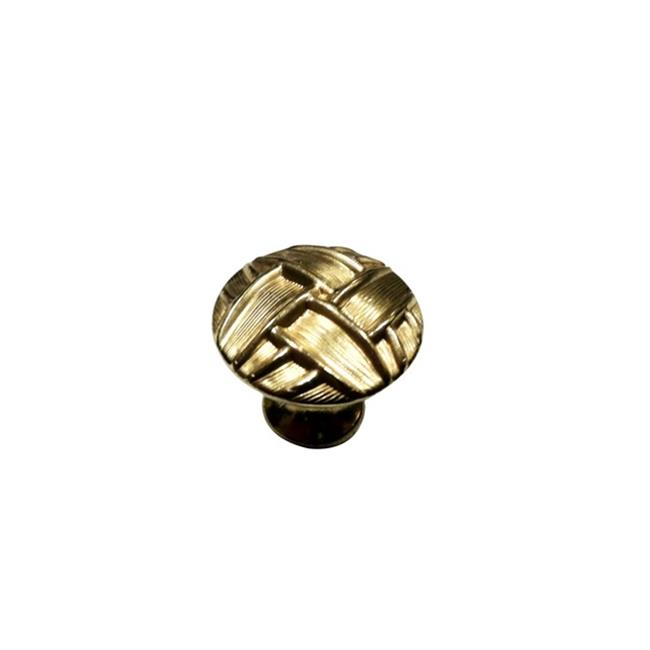 Knobware C5135 Vintage American Knob 1.12 in. Diameter Thick Weave Burnished Brass - image 1 de 1