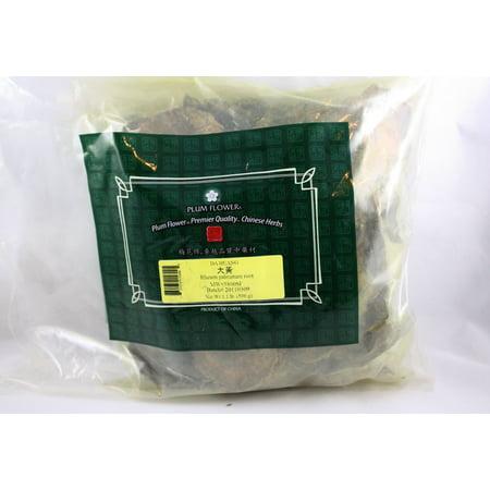 Rhubarb Root, Da Huang, Cut 1lb, Plum Flower, Bulk -