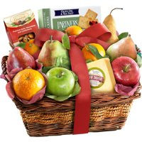 Golden State Fruit Gourmet Cheese and Nuts Fruit Gift Basket, 12 pc