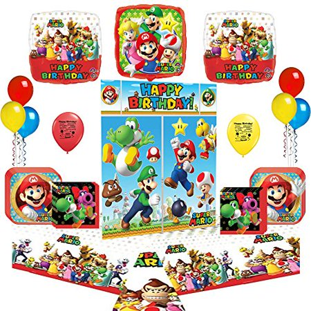 Super Mario Bros Party Supply and Balloon Decoration - Super Mario Bros Decorations