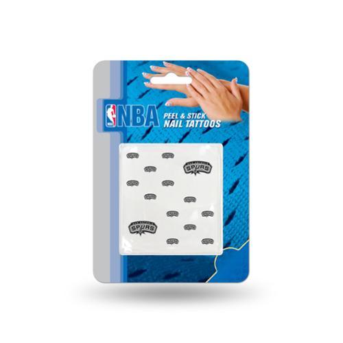 San Antonio Spurs Official NBA 1 inch x 1 inch  Fingernail Tattoo Set by Rico