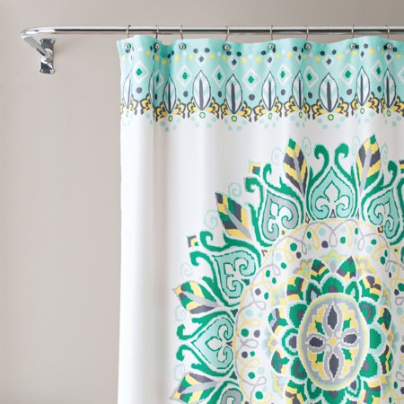 """Multicolor Fabric Shower Curtain, 72"""" x 72"""", Better Homes & Gardens Medallion Pattern"""