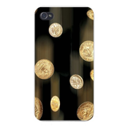 Apple Iphone Custom Case 4 4s Plastic Snap on - Coin Money Quarter, Dime & Penny