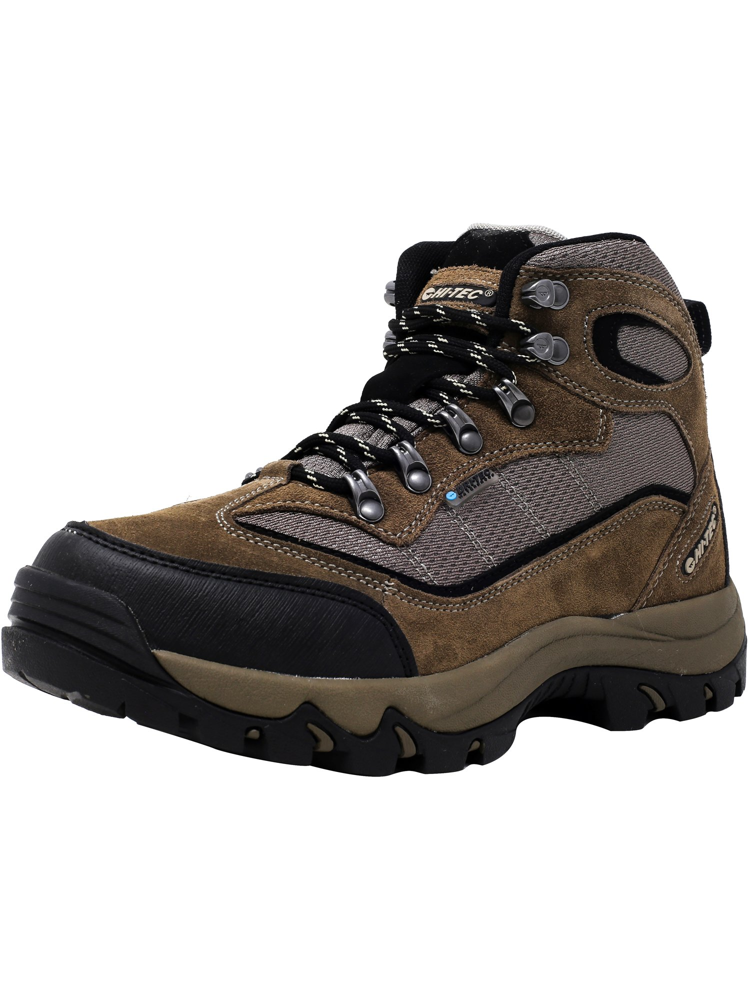 Hi-Tec Mens 52124 Skamania Waterproof Hiking Boots Smokey Brown Olive Snow by Hi-Tec