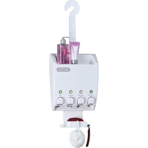 Ulti-Mate Dispenser Shower Caddy, White