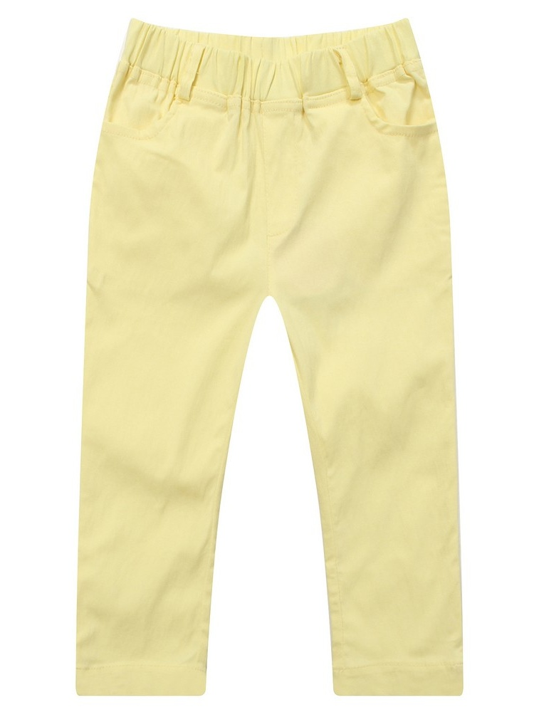Richie House Little Girls Yellow Elastic Waist Leisure Pants 2-6