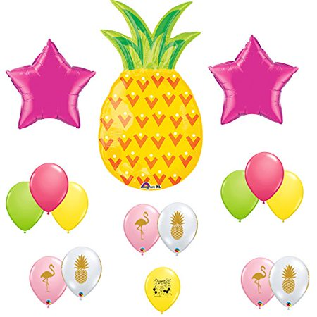 Flamingo Pineapple Tropical Party Supplies Balloon Decoration Kit for $<!---->
