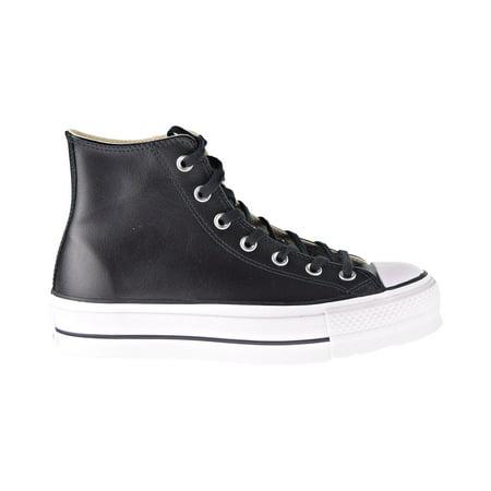 Black Converse High Tops Cheap (Converse Chuck Taylor All Star Platform Leather High Top Women's Shoes Black)