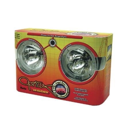 Hella Optilux 2500 12V 55W Angel Eyes Driving Lamp - Optilux Driving Lamp Model