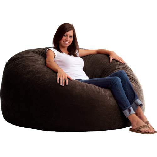 King 5' Fuf Comfort Suede Bean Bag Chair, Multiple Colors