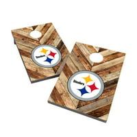Pittsburgh Steelers 2' x 3' Cornhole Board Tailgate Toss Game