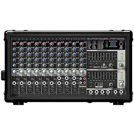behringer europower pmp2000 10 channel 800 watt powered mixer with a 24 bit stereo fx processor. Black Bedroom Furniture Sets. Home Design Ideas