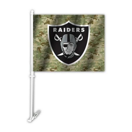 NFL Oakland Raiders Camo Car Flag (Raiders Car)