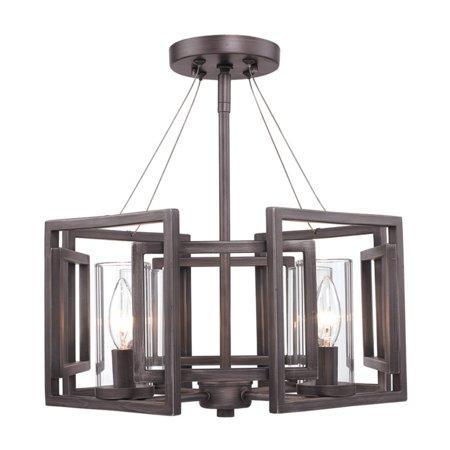 Golden Lighting  6068-SF  Ceiling Fixtures  Marco  Indoor Lighting  Semi-Flush  ;Gunmetal Bronze](Gold On The Ceiling Chords)