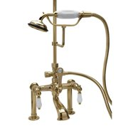 Elizabethan Classics ECRM22 Deck Mount Clawfoot Tub Faucet with Hand Shower