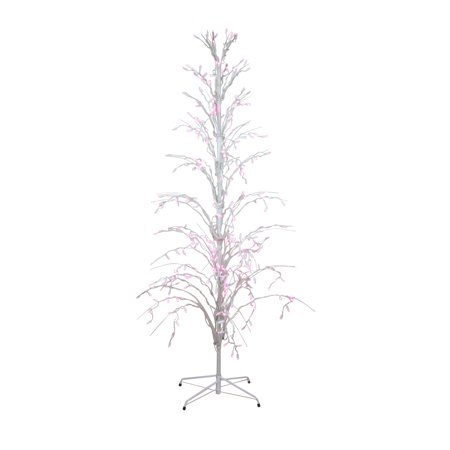 6' Pink LED Lighted Christmas Cascade Twig Tree Outdoor Yard Art Decoration ()