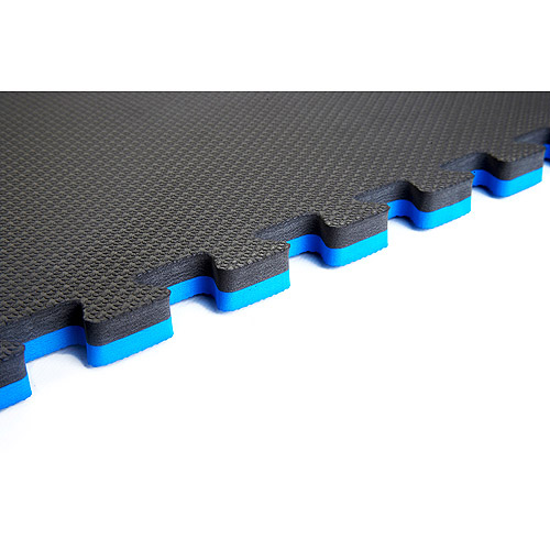 Norsk 240175 Reversible Interlocking Multi-Purpose Foam Floor Mats, 16-Square Feet, Blue/Black, 4-pack