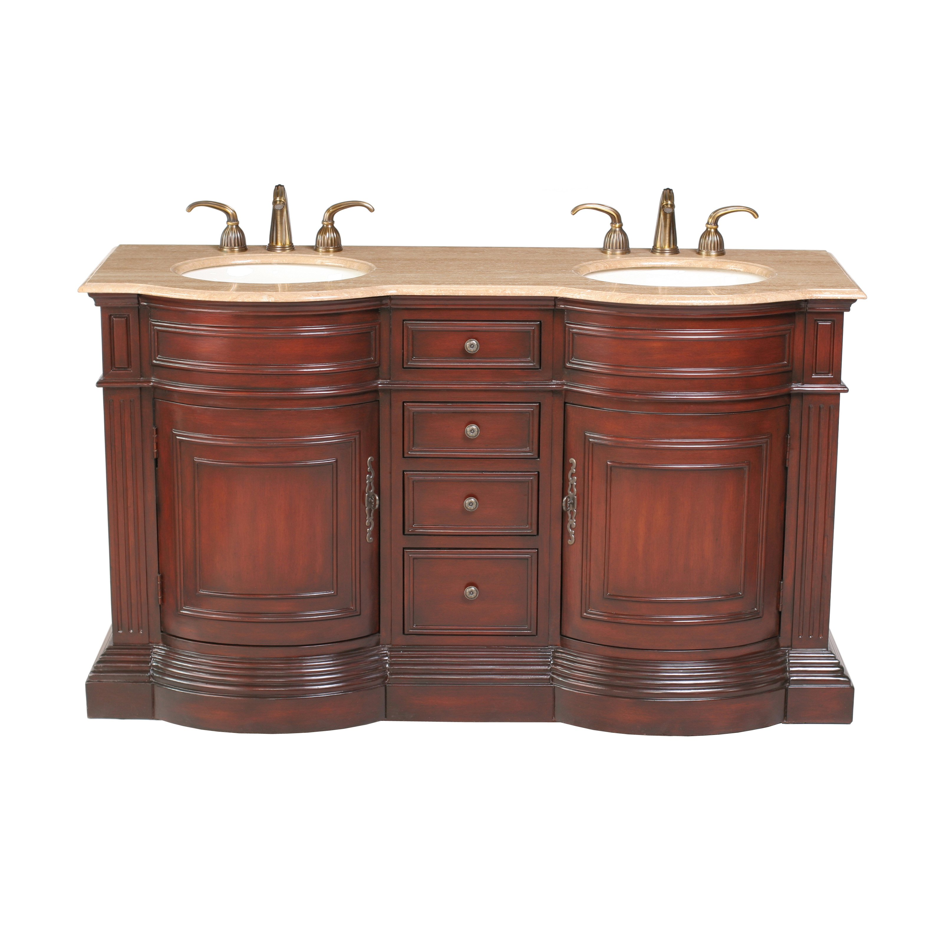 Catherine Single Sink Vanity in Cherry Finish