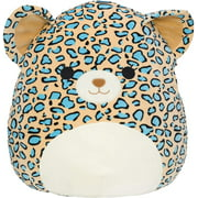 """Squishmallows Official Kellytoy Plush 16"""" Teal Leopard - Ultrasoft Stuffed Animal Plush Toy"""