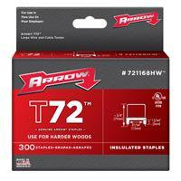 Arrow Fastener 721168HW T72 Series Insulated Staples, 13/64 x 31/64 WxH Inch