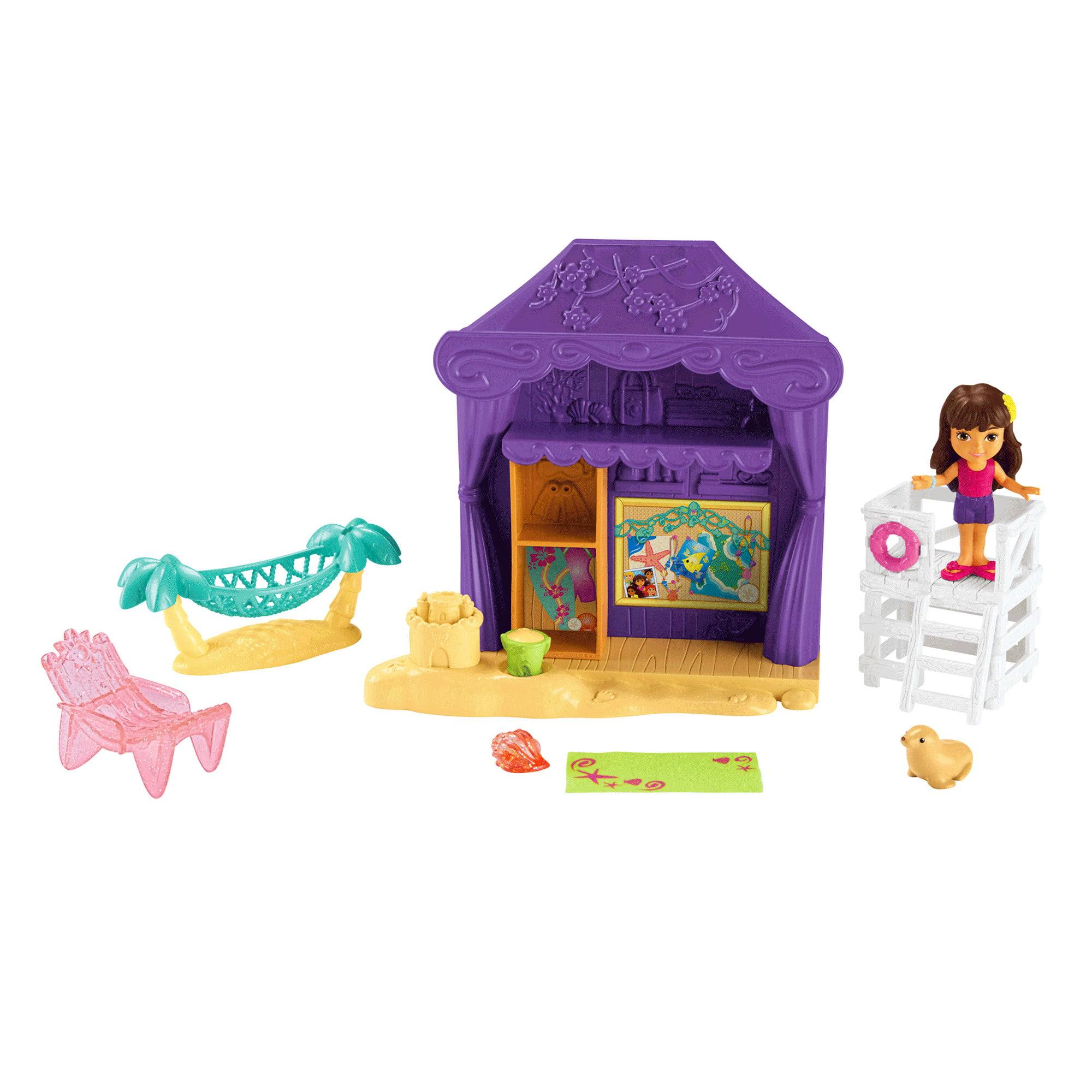Fisher-Price Dora and Friends Playa Verda Cabana Playset - Walmart.com