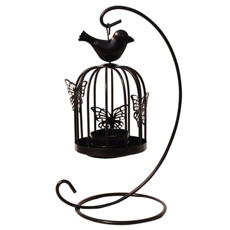 Cluxwal Hollow Candle Holder Metal Hanging Lanterns Birdcage Candlestick Home Wedding Party Decor Birdcage - Metal Lanterns Wedding
