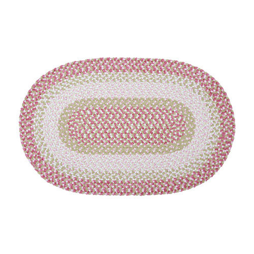 Colonial Mills Blokburst Tea Party Pink Outdoor Area Rug