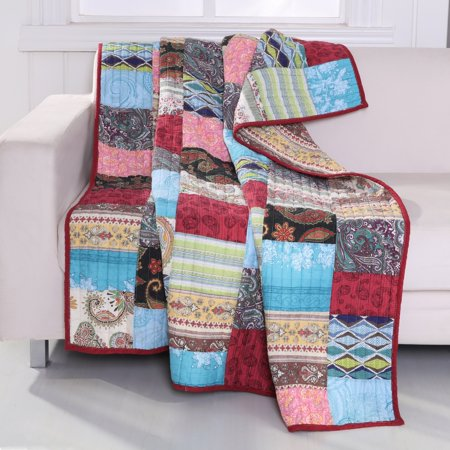 Greenland Home Fashions Bohemian Dream Authentic Patchwork Throw Quilt