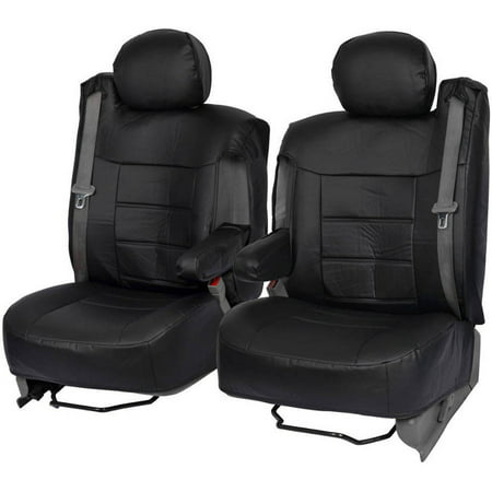 BDK PU Leather Seat Covers for SUV and Pick up Trucks, Arm Rest and Built-In
