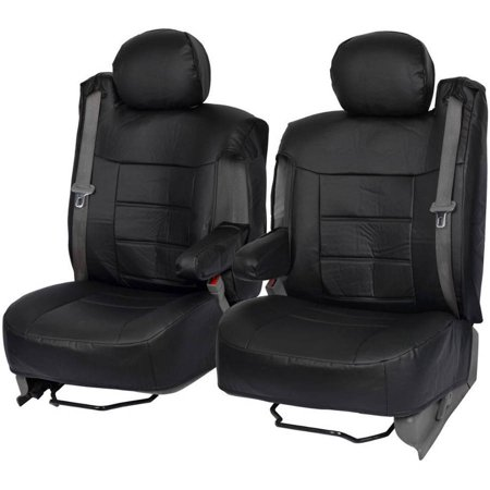 BDK PU Leather Seat Covers for SUV and Pick up Trucks, Arm Rest and Built-In Seatbelt (Eagles Truck Seat Covers)