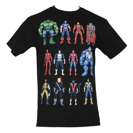 Marvel Comics Mens T-Shirt - 16 Bit Character (Mens Collection)