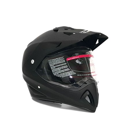Helmet Dual Sport Off Road Motorcycle Dirt Bike ATV - FlipUp Visor - 27V (XXL, Matte