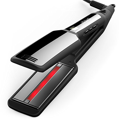 xtava Pro-Satin Infrared Straightener - Professional Flat Iron with Tourmaline Ceramic Plates - Achieve Salon-Worthy Shine with Advanced Infrared Heat Technology