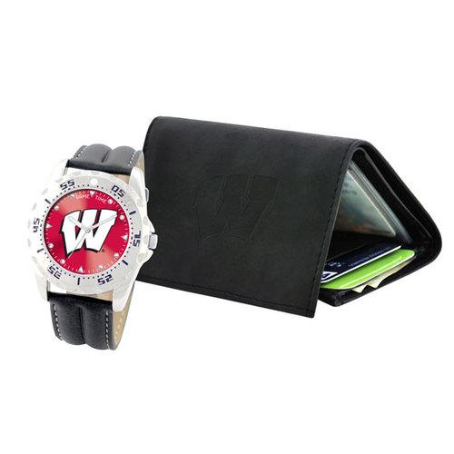 NCAA - Wisconsin Badgers Watch and Wallet Set