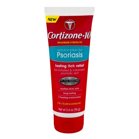 Cortizone 10 Maximum Strength 1  Hydrocortisone Anti Itch Lotion For Psoriasis  3 4Oz