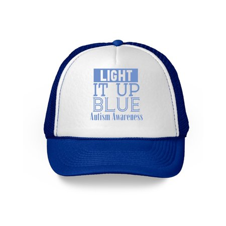 Awkward Styles Light It Up Blue Autism Awareness Hats Autism Hats for Men and Women Light It Up Blue Cap for Autism Awareness Blue Autism Hat Autism Blue Support Cap Autism Gifts for Him and Her