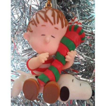 Vintage Peanuts Linus And Snoopy Christmas Ornament