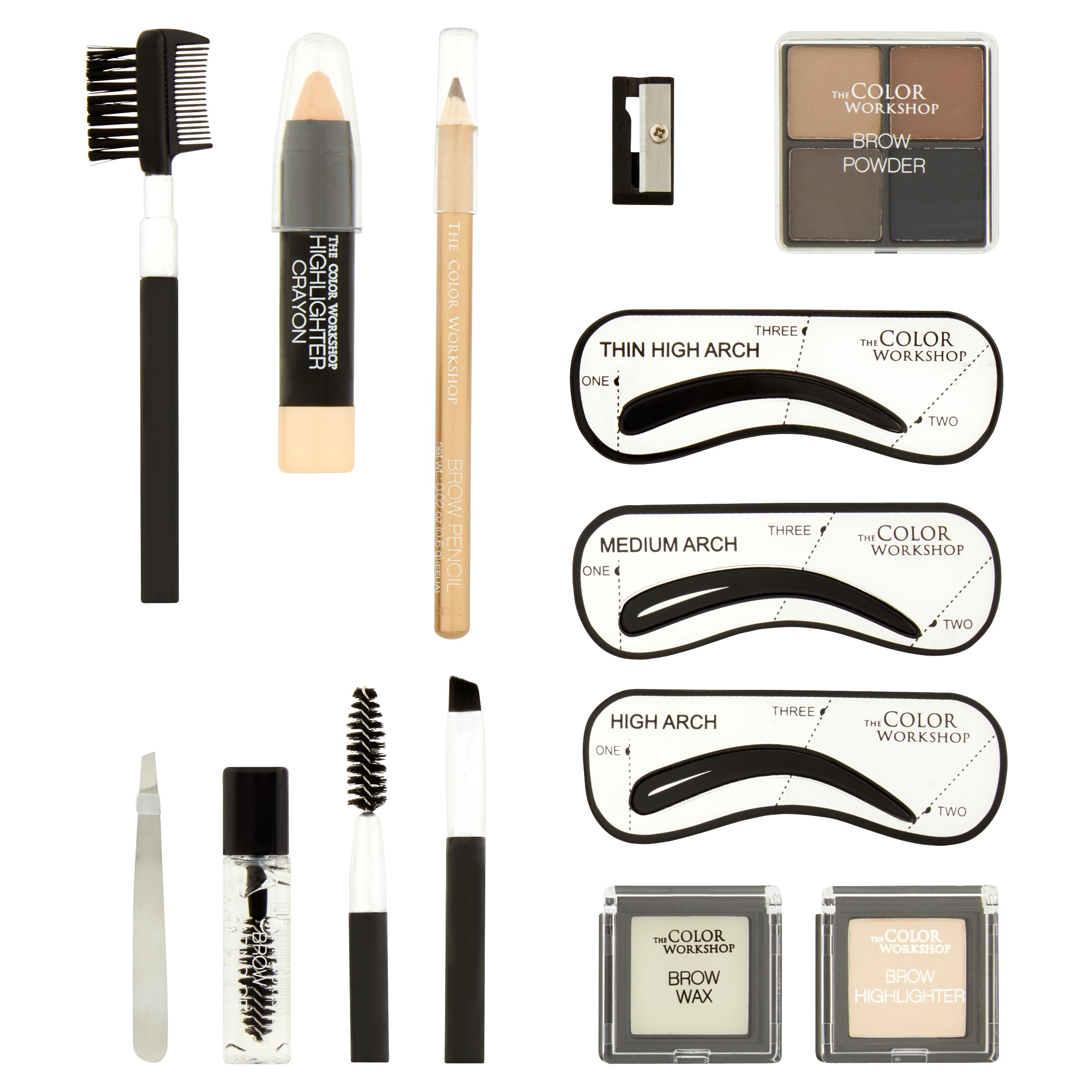 The Color Workshop Wow Wow Brows Brow Set, 17 piece